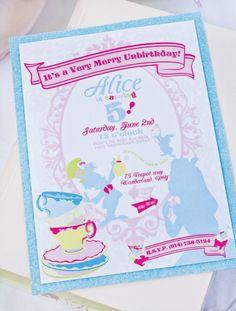 Whimsical Alice in Wonderland Dessert Table: The Invite