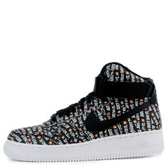 5400dbfbcb8709 Nike Women s Nike Air Force 1 Hi Lx Black black-white-total Orange