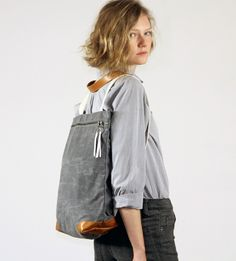 diy backpack -love the simple lines of this bag -the link does not have info on the bag