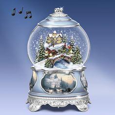 "Thomas Kinkade  ""Jingle Bells"" Snow Globe"
