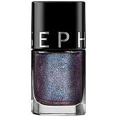 SEPHORA COLLECTION - Color Hit Nail Polish in 75 Blackjack - Sparkling Black  #sephora