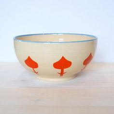 Colorful bowl Boho kitchen decor Serving bowl Salad by PotsbyNives