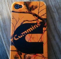 Orange Cummins Camo iPhone Case! Perfect! If only I had an iPhone...