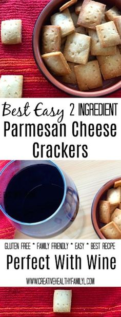 This is one of my favorite recipes. Amazingly wholesome and the best easy 2 ingredient Parmesan cheese crackers recipe you will ever find!