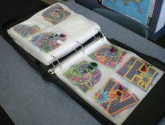 Bulletin Board letters organized in a photo album or CD binder