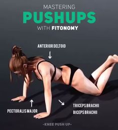 PUSH UPS WITH FITONOMY! The pushup may just be the perfect exercise that builds both upper body and core strength. What are you waiting for? Start your journey now! Fun Workouts, At Home Workouts, Arm Toning Exercises, Aerobic Exercises, Fitness Motivation, Different Exercises, 30 Day Workout Challenge, Flexibility Workout, Physical Fitness
