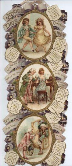 Joyous Days 1904 Calendar