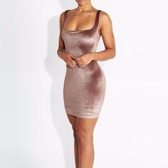 Blush Velvet Sleeveless Mini Dress