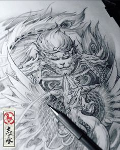 🐵 Artwork by: Zhiyong Ma Location: Ljubljana, Slovenia Artist's IG: King Tattoos, Body Art Tattoos, Sleeve Tattoos, Japanese Tattoo Art, Japanese Tattoo Designs, Tattoo Sketches, Tattoo Drawings, Monkey Tattoos, Tattoo Now