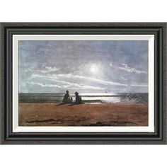 Global Gallery 'Moonlight 1874' by Winslow Homer Framed Painting Print