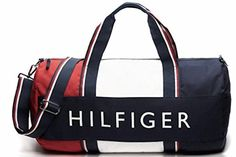 Tommy Hilfiger Patriot Duffle Bag  Navy  Red -- Find out more about the great product at the image link.