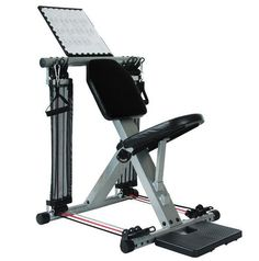 Flex force resistance fitness chair gym total body workout 50 exercise