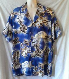 d965b1993144 The Hawaiian Original Men s Shirt Blue Size XXL Vacation Summer Beach New   TheHawaiianOriginal  Hawaiian