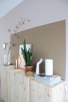 Home Decor Bedroom, Living Room Decor, Room Inspiration, Interior Inspiration, Scandinavian Interior Bedroom, Half Painted Walls, Light Green Walls, Happy New Home, Piece A Vivre