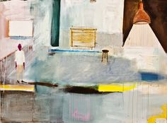 """Saatchi Online Artist: fernanda brenner; Acrylic, 2011, Painting """"scenography of waiting"""""""