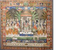 A pichwai panel of Krishna and the Gopis