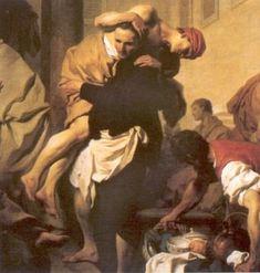 St. Camilius de' Lelis ~ Blaadje scheurkalender.
