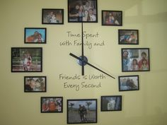 large photo wall clock with instructions!