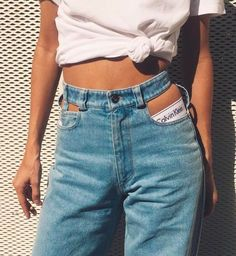 knotted tees + ck intimates + cutout denim