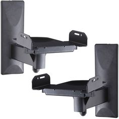 VideoSecu One Pair of Side Clamping Speaker Mounting Bracket with Tilt and Swivel for Large Surrounding Sound Speakers MS56B 3LH