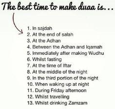 Best time to dua Duaa Islam, Islam Hadith, Allah Islam, Alhamdulillah, Islam Quran, Islam Muslim, Hadith Quotes, Allah Quotes, Muslim Quotes