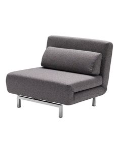 Iso Chair/Bed, Charcoal Tweed, Day Beds, by Mobital Sleeper Chair Bed, Chair Sofa Bed, Accent Chairs For Living Room, Home Living Room, Folding Sofa Bed, Single Sofa Chair, Pub Chairs, Office Chairs, Adirondack Chairs For Sale