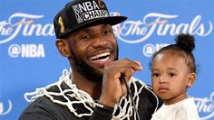 LeBron and Zhuri at the press conference after winning the 2016 NBA Finals!!!