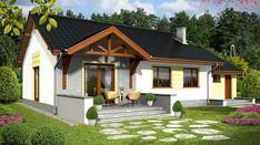 Bastek z garażem 1-st. [A] - zdjęcie 2 Home Fashion, Gazebo, Outdoor Structures, Cabin, House Styles, Home Decor, Kiosk, Decoration Home, Room Decor