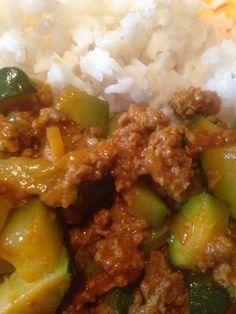 ...everything homemade...: Zucchini Curry Pfanne