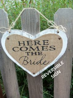 Here Comes The Bride   (REVERSIBLE)   Just Married  www.celebrationsbyamybacon.com