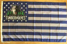 NBA Minnesota Timberwolves Basketball 3X5 Banner Flag Man Cave FREE SHIPPING #MinnesotaTimberwolves
