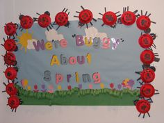 """We're """"Buggy"""" About Spring Board Ideas, Bulletin Boards, Teacher, Spring, Professor, Bulletin Board, Teachers, Data Boards"""