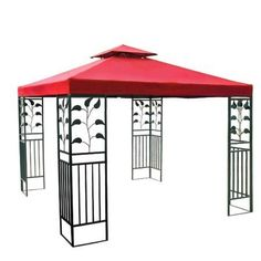 Red Patio Sun Shade 8x8 Ft Garden Canopy Gazebo Replacement Top . $54.99. PA Coating for Effective Harmful UV Blocking and Waterproof Performance; Grommets to Ensure Proper Water Drainage; Velcro Attaching Tabs for Conveniently Fixing onto the Frames; Reinforced Corners to Stand Years of Use; Zippered Ventilated Top with Mosquito Netting between Top and Lower Tier. Features:  Replacement Canopy Top for 8' x 8' Gazebo PA Coating for Effective Harmful UV Blocking and Waterproof Per...