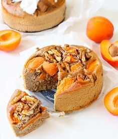 Breakfast cake with apricots and walnuts - Oh My Pie! Healthy Cake, Healthy Sweets, Healthy Baking, Pureed Food Recipes, Snack Recipes, Breakfast Pie, Belgian Food, Sports Food, Rainbow Food