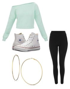 """""""Untitled #13"""" by alaninaissant on Polyvore featuring Topshop, Converse and GUESS"""