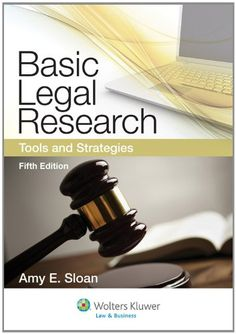This best-selling coursebook on legal research is known for its clear, step-by-step instruction in the basics. Using a building-block approach, the text breaks material into discrete, readily comprehensible parts. Self-contained chapters on sources make the book flexible for any type of legal research course. Useful pedagogy throughout the text includes end-of-chapter checklists, clear examples, and summary charts.