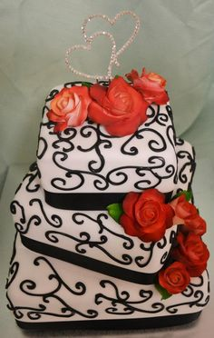 Wedding Cake by Abbolou Cakes, Toowoomba, Queensland, Australia. You'll find this Cake Appreciation Society Member in our Directory at www.cakeappreciationsociety.com
