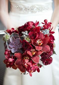 Beautiful and rich Marsala tones. #wedpin #AAWEP #Wedding
