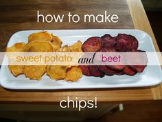 make your own sweet potato and beet chips with the pampered chef chip maker!