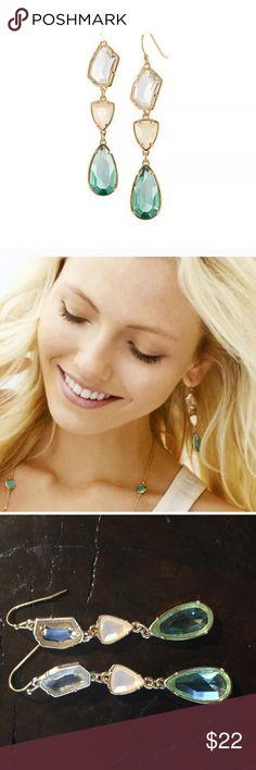 """Blue Crystal Chandelier Earrings Blue Crystal Chandelier Earrings. Great addition to this fall season. 3"""" in length. Jewelry Earrings"""