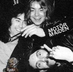 Steve Harris and Dave Murray with Lemmy Kilmister :)