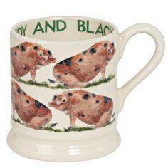 Emma Bridgewater Sandy & Black Half Pint Mug