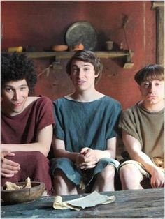 Plebs - Episode Season Joel Fry as Stylax, Tom Rosenthal as Marcus and Ryan Sampson as Grumio. British Tv Comedies, British Comedy, Comedy Tv Shows, All Episodes, Television Program, Love And Lust, Great Tv Shows, Single Men, Ancient Rome