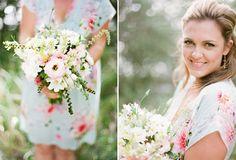 Floral bridesmaids dress
