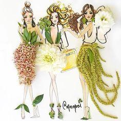 Çizimlerinde Sebzeleri ve Çiçekleri Kullanan Modacıdan 20 Olağanüstü İllüstrasyon Sanatlı Bi Blog 15