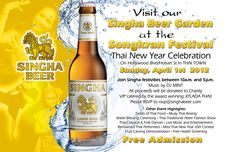 Thai New Year on Hollywood Blvd - All proceeds from our beer garden go to charity!