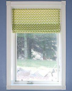 Como hacer una cortina romana primaveral paso a paso
