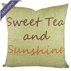 Sweet Tea and Sunshine Pillow
