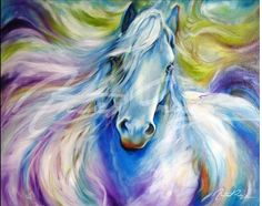 Ponies, horses and equestrian gif animations, moving pony and horse pictures and clip art images Painted Horses, Wall Art Prints, Fine Art Prints, Horse Artwork, Horse Drawings, Fantasy Paintings, Equine Art, Horse Pictures, Art Portfolio