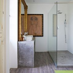 Arty modern shower room | Shower room ideas | Bathroom | PHOTO GALLERY | Livingetc | Housetohome.co.uk